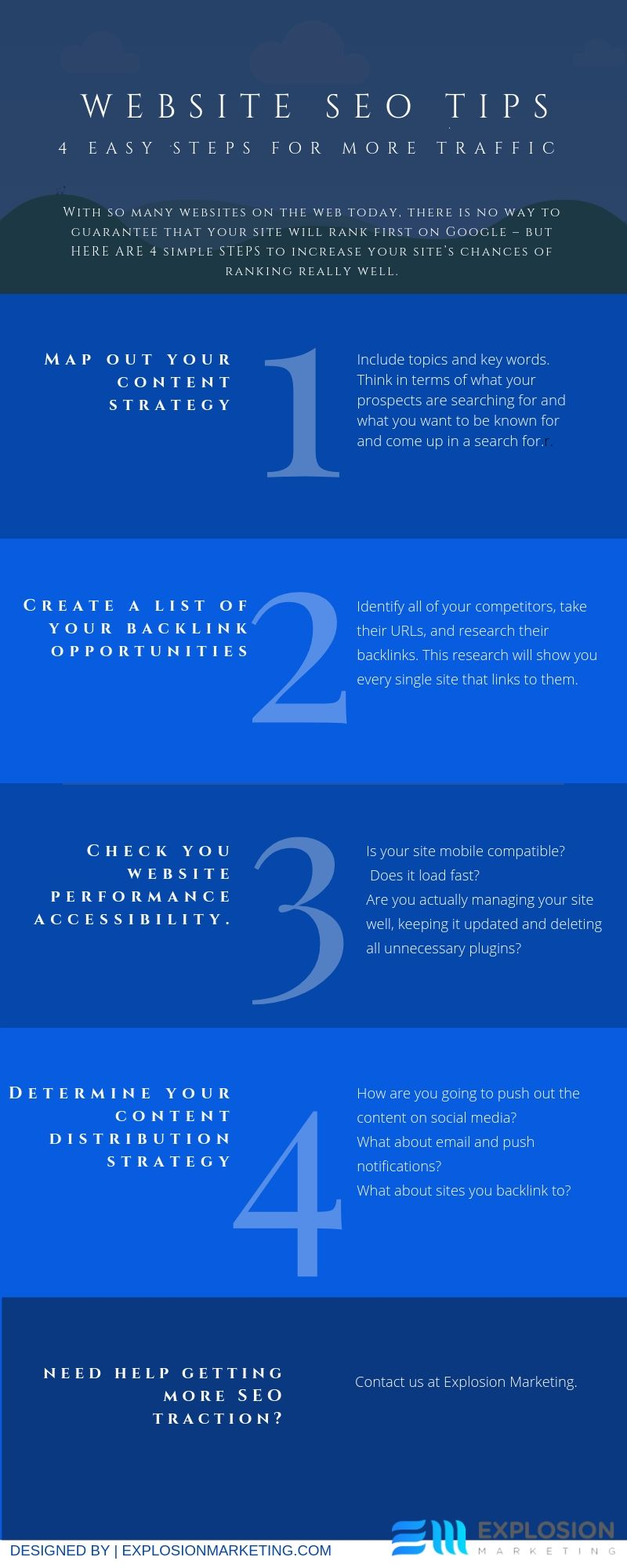 WEBSITE SEO TIPS Infographic
